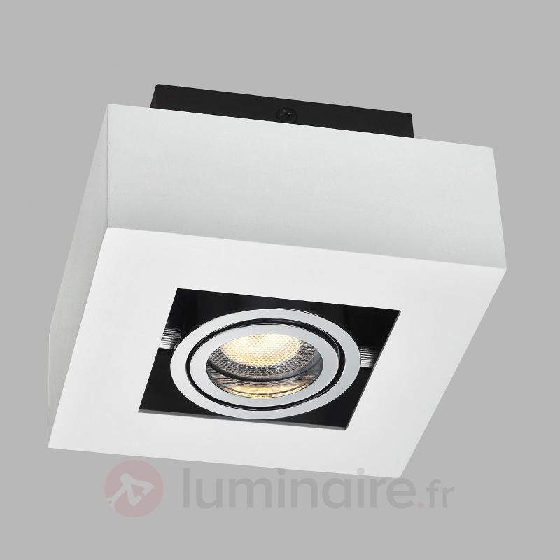 Spot LED carré Vince en blanc - Plafonniers LED