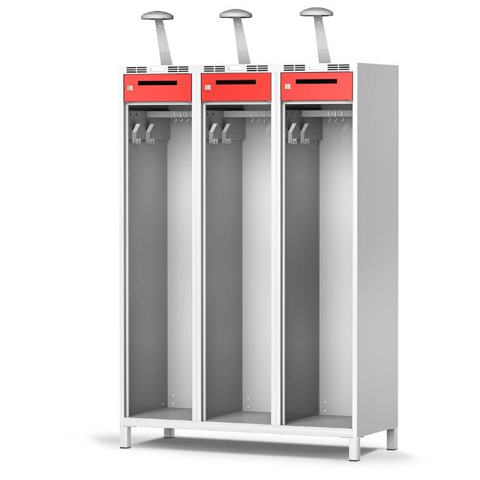 Gear locker PRO - available with 1, 2 or 3 compartments