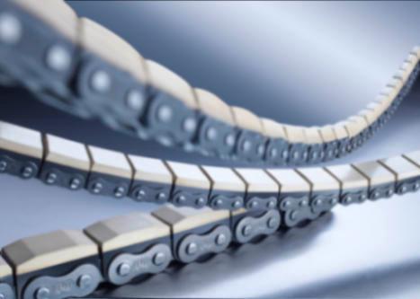 Rollenketten mit aufvulkanisierten Elastomer-Profil