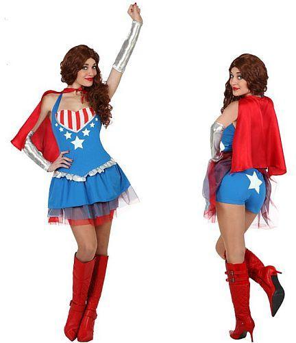 Costume super héro dame  - taille M L XL