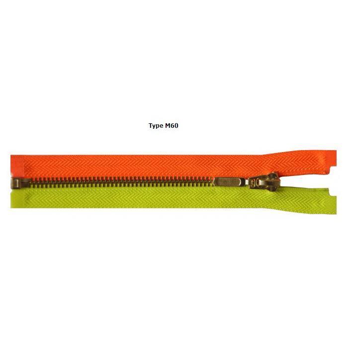 METAL ZIPPERS - Metal 6mm M60 zippers