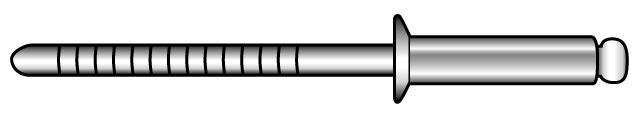 Offene Blindniete mit Sollbruchdorn und Senkkopf - Material A2