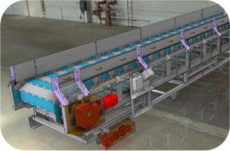 Conveyor system for removal of metal junks for automobile pl