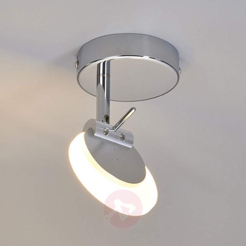 Sena LED Ceiling Spotlight with Satin Glass Plate - Ceiling Lights