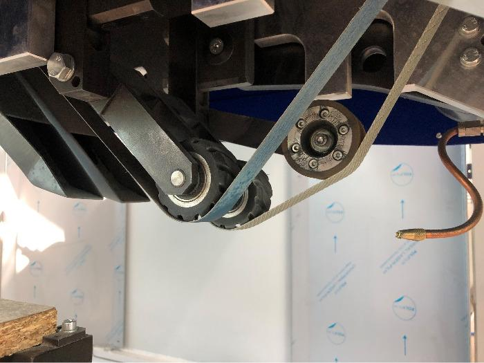 GAMMA CNC weld seam belt grinding machine - 3 CNC axis belt grinding machine for weld seam grinding and edge profiling