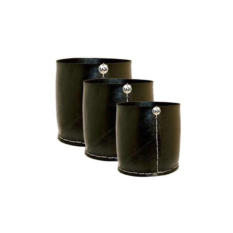 3 Caches Pots Droits - PNEU RECYCLÉ