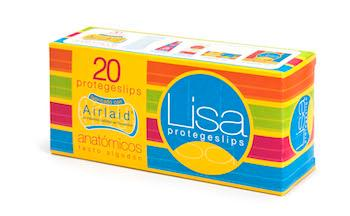 Lisa pantyliner 20 u. - Anatomical shape 100% Airlaid core