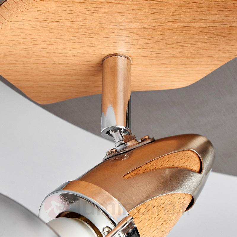 Plafonnier LED en bois Sharleen - Spots et projecteurs LED
