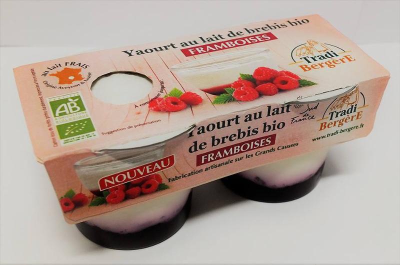 YAOURT AU LAIT DE BREBIS FRAMBOISE. (PACK 2 X 100 G) - Produits laitiers