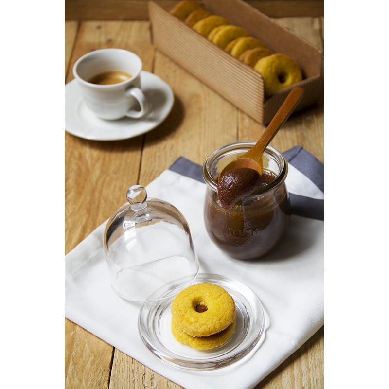 Tarros WECK COROLLE® - 12 tarros en vidrio WECK Corolle® 220 ml con tapas y gomas (clips no incluidos)