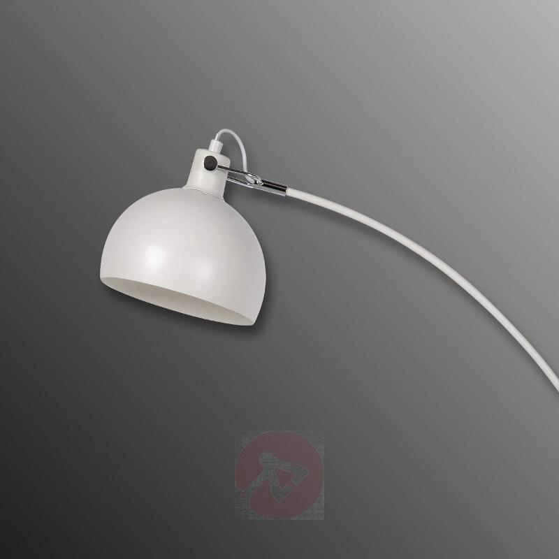 Dumbo arc lamp with wood element - Arc Lamps