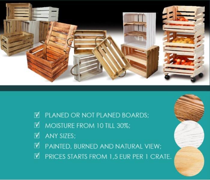 Деревянные ящики  - Ящики декоративные и контейнеры для овощей и фруктов