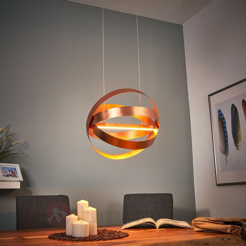 Suspension LED Rings en cuivre moderne - Suspensions LED