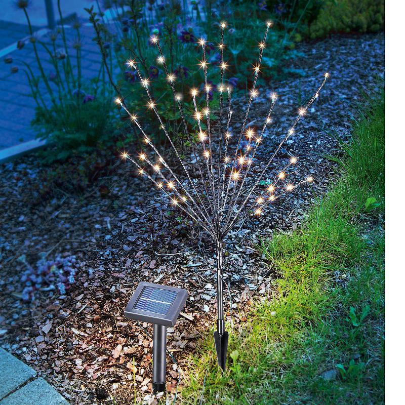 Lampe d'extérieur LED solaire arbuste lumineux - Lampes solaires décoratives