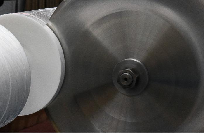 Šikmý proužek z PP textilie Spunbond - Šikmý proužek pro automatickou výrobu ochranných, chirurgických roušek