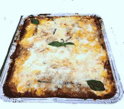 Parmigiana di Melanzane - Parmigiana di Melanzane in teglia da 9/12 porzioni Kg 3,00