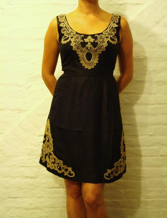 Short Dress with Lace Patch Work Design | Purnima Exports - Manufacturer | OEM | Low Order QTY Accepted