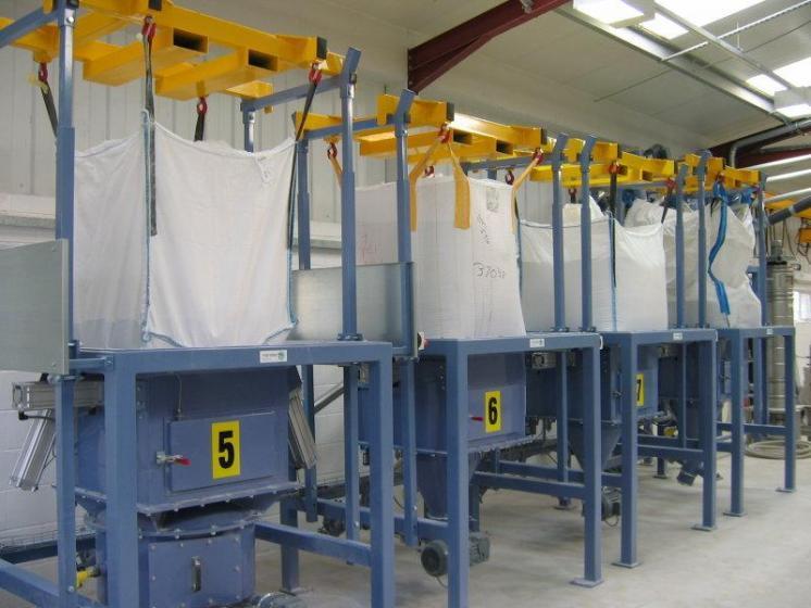 Installations de vidange de Big Bags - Stations de vidange de big bag sont conçues pour des big bag