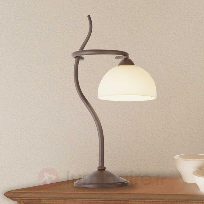 Lampe à poser Christian marron - Lampes à poser rustiques