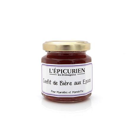 Les Fromagères CONFIT DE BIÈRE AUX EPICES 125G - Épicerie sucrée