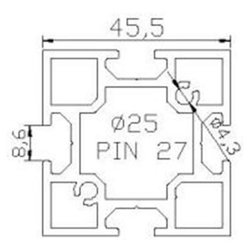 Profilés MONTANT - SQ-45,5