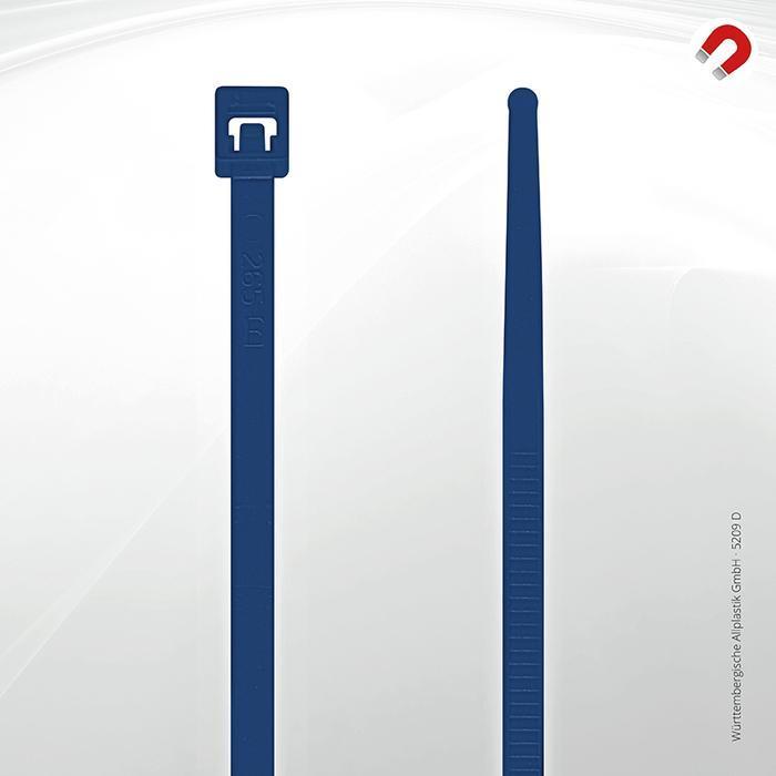 Allplastik-Kabelbinder® cable ties, detectable - 5209 D (blue)