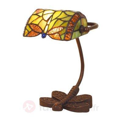 Lampe à poser DRAGONFLY fabriquée à la main - Lampes à poser style Tiffany