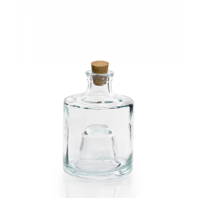 Bocal empilable en verre 100% recyclé avec bouchon en liège - Pichets, flacons, et carafes