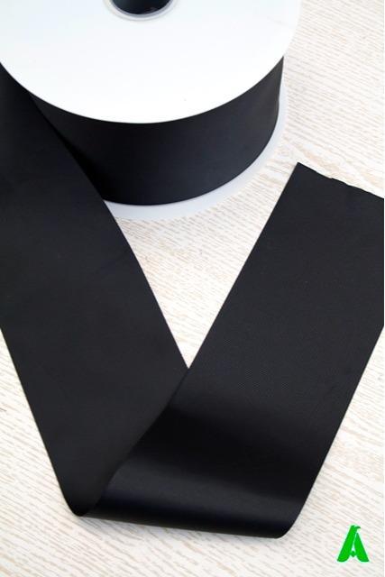 Nastro nero cm 10 canettato gros grain - Nastro nero cm 10 canettato gros grain