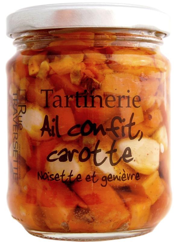 Tartinerie Ail confit, carotte & noisette 185g - Epicerie salée