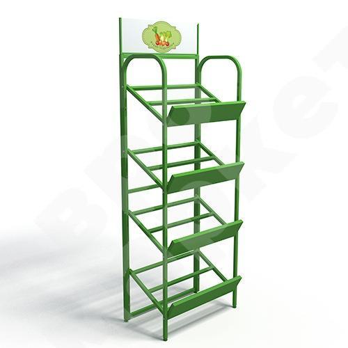 DISPLAY STANDS FOR SHOPS - Vegetable basket shelf stand