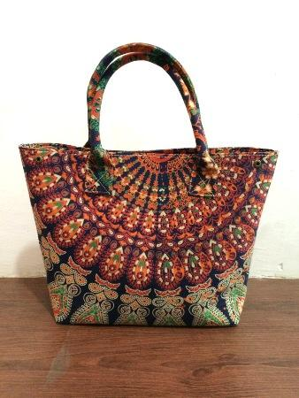 Indian women shoulder fashion mandala cotton handbag