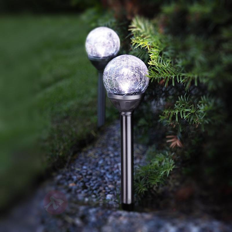 Set de 2 lampes solaires LED Stäbe avec boule - Toutes les lampes solaires