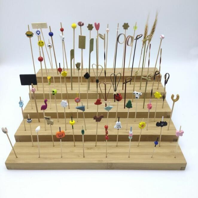 Cocktail fancy sticks - Disposable party skewers/bamboo fancy picks