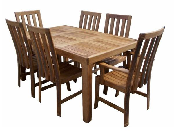 Dining Room Tables - 6 Seater Diningroom Table Slated