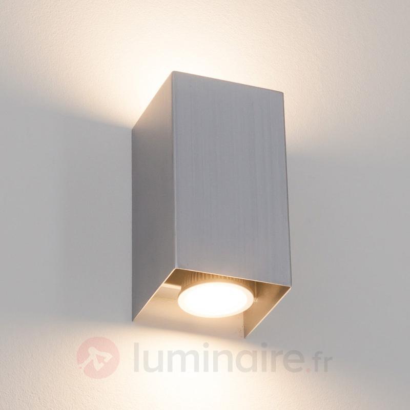 Applique en métal Kabir rectangulaire à LED GU10 - Appliques LED