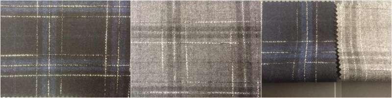 wol / polyester / spandex 60/36/4  serge2/2 - stoom- af hebben / garen geverfd slub streep