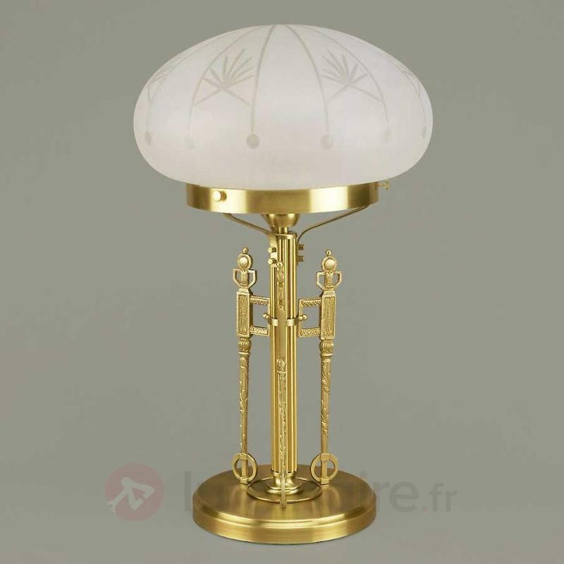 Lampe à poser Budapest, bronze - Lampes à poser classiques, antiques