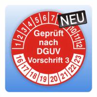 Prüfplakette Geprüft nach DGUV Vorschrift 3