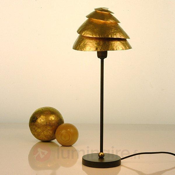 Théâtrale lampe à poser SNAIL ONE, brun et or - Lampes à poser classiques, antiques