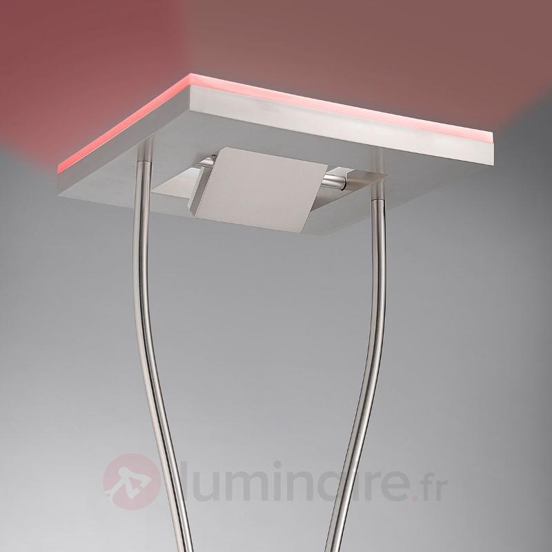 Lampadaire Helia avec RGB-Uplight et télécom. - Lampadaires LED à éclairage indirect