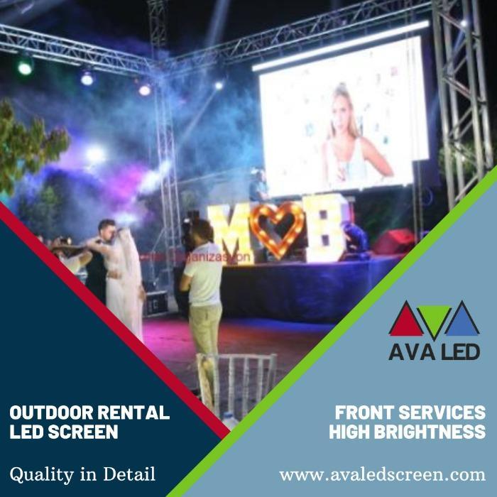 Utendørs konsertområde ledede skjermsystemer - P2.6 - P2.97 - P3.91 - P4.81 AVA LED-skjermsystemer innendørs og utendørs