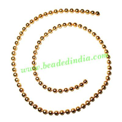 Gold Plated Metal Chain, size: 3mm, approx 38.8 meters in a  - Gold Plated Metal Chain, size: 3mm, approx 38.8 meters in a Kg.
