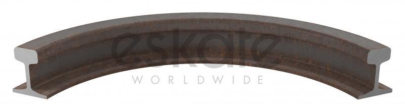 Profile bending  - curved railway tracks - We bend steel and stainless steel profiles in different dimensions.