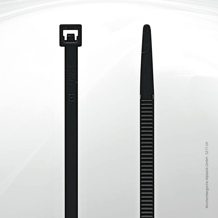 UV resistant cable ties Allplastik-Kabelbinder® - 5217 UV (black)