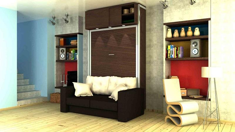 Vertical double bed