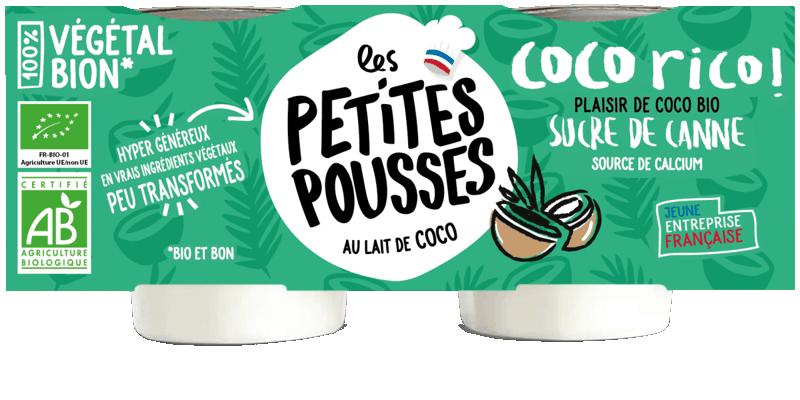 Dessert de coco bio et sucre de canne - Yaourt au lait de coco bio
