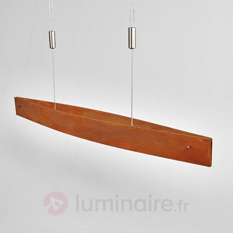 Suspension rouille Malu à LED variable, ajust. - Suspensions LED