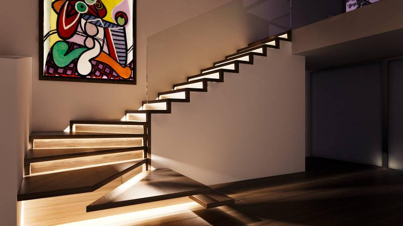 Stairs with LED - Faltwerk LED