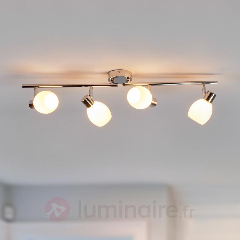 Plafonnier LED à quatre lampes Aidan, G9 - Plafonniers LED